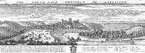 Lancaster, Lancashire - Lancaster in 1728