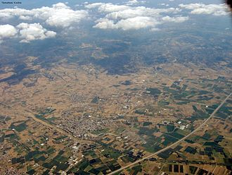 Langadas - An aerial picture of Langadas.