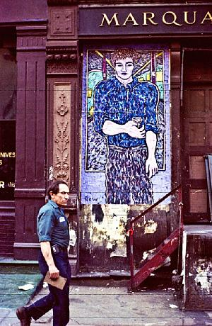 Street art - Street art by Kevin Larmee, SoHo, New York City (1985)