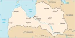 Lettonia - Mappa