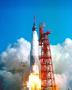 Convair - Atlas rocket launching Friendship 7, the first U.S. manned orbital space flight