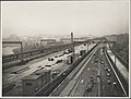 Laying the railway tracks on the Sydney Harbour Bridge, 1932 (8282708251).jpg