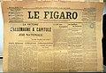 Le Figaro du 12 novembre 1918 annoncé la capitulation de l'Allemagne. Objet exposé à l'Historial de la Grande Guerre à Péronne (Somme).jpg