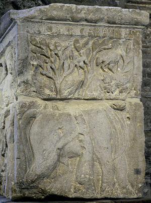 Tarvos Trigaranus - The relief of Tarvos Trigaranus on the Pillar of the Boatmen.