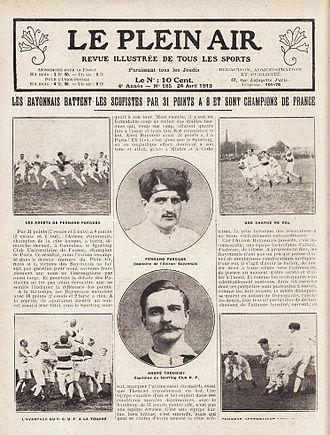 Les Joueurs de football - Le Plein Air, Revue illustrée de tous les sports, 24 April 1913