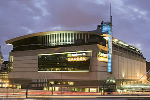 North Station - North Station is located on the first floor of the TD Garden, with its platforms extending to the north (lower right)
