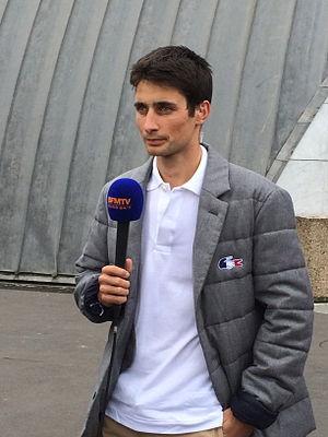 Jason Lamy-Chappuis - Image: Le champion olympique et du monde de combiné nordique Jason Lamy Chappuis à Paris le 14 octobre 2013