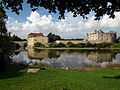 Leeds Castle, Kent, viewed from the south east.jpg