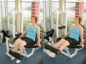 Quadriceps femoris muscle - Image: Leg Extension Machine Exercise
