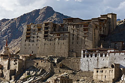 The ruined Royal Palace at Leh
