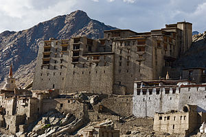 Leh - The ruined Royal Palace at Leh
