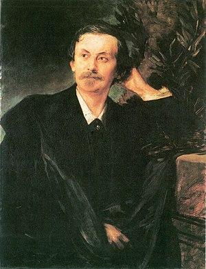 Franz von Lenbach - Portrait of Adolf von Schack