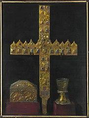 Krzyż z diademów książęcych, skrzyneczka zwana saraceńsko-sycylijską i tzw. szklanica św. Jadwigi Śląskiej