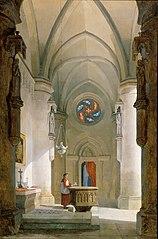 Das Innere einer Taufkapelle