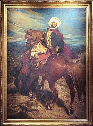 Muhammad XII of Granada - The farewells of King Boabdil at Granada (Les Adieux du roi Boabdil à Grenade), Alfred Dehodencq (1822–1882).
