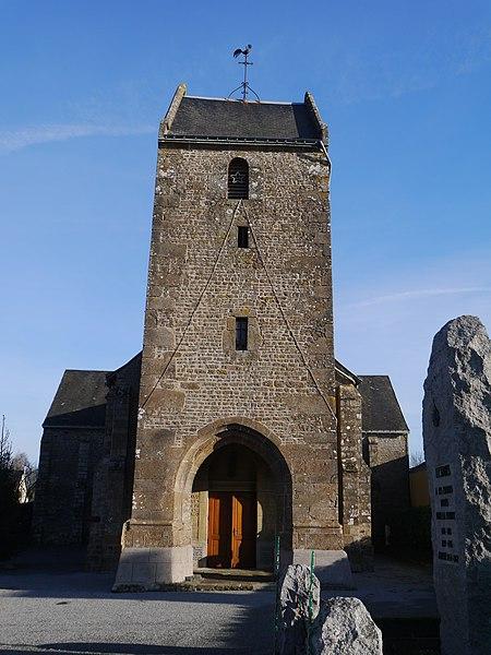 Le clocher en bâtière.
