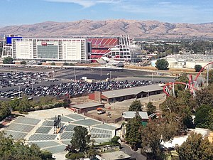 Levi's Stadium - Levi's Stadium from a tower at California's Great America theme park.