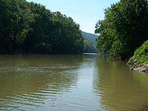 Paintsville, Kentucky - The Levisa Fork River in Paintsville