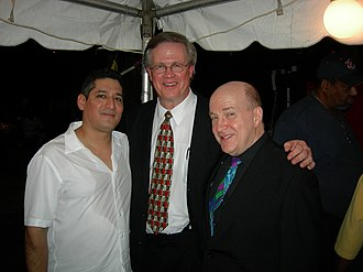 Lew Soloff - L to R:  Steve Ramos, Ray Reach and Lew Soloff backstage at the Taste of 4th Avenue Jazz Festival, sponsored by the Alabama Jazz Hall of Fame in Birmingham, Alabama, September 27, 2008