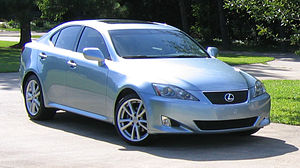 Flopped image - Original image of a left-hand-drive Lexus IS 250