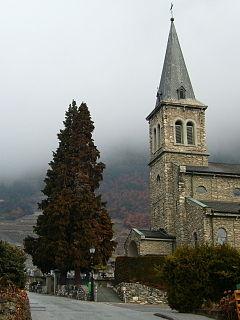 Leytron Place in Valais, Switzerland