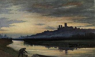 Edward R. Taylor - Lincoln Cathedral, evening (1911)