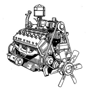 Lincoln-Zephyr - Lincoln-Zephyr V12 engine