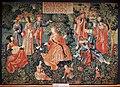 Lione (attr.), arazzo con giovinezza, 1512-15 ca.jpg