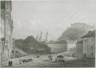 Prešeren Square - Prešeren Square in 1856