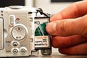 Der Klassiker: CF-Karte zur Bildspeicherung