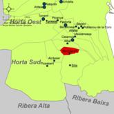 Localització de Beniparrell respecte de l'Horta Sud.png
