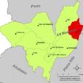 Localització de Tírig respecte de l'Alt Maestrat.png