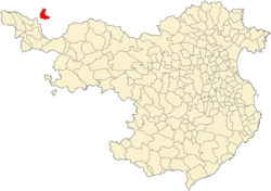 Location of Llívia in the province of Girona.