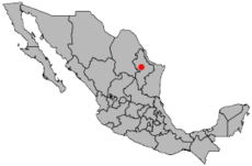 Map of Mexico highlighting the city of Monterrey Image: Mixcoatl.