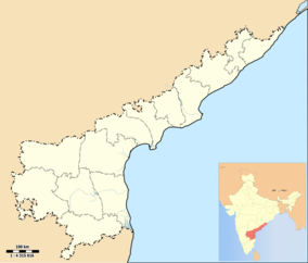 Map showing the location of Krishna Wildlife Sanctuary