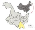 Location of Mudanjiang Prefecture within Heilongjiang (China).png