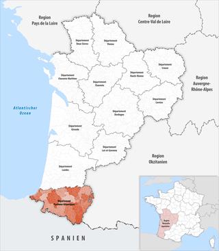 Lage des Pyrénées-Atlantiques