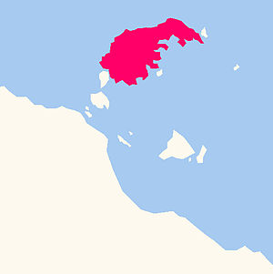 Mornington Island - Image: Locator map of Mornington Island