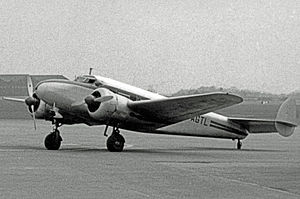 Imagery intelligence - Sidney Cotton's Lockheed 12A, in which he made a high-speed reconnaissance flight in 1940.