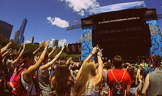 Lollapalooza - Bud Light Stage during the 2015 festival in Chicago