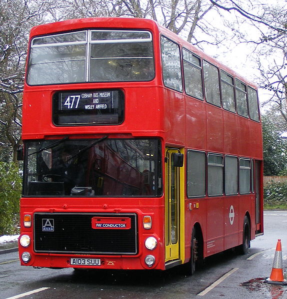 File:London Buses bus V3 (A103 SUU) 1984 Volvo Ailsa B55 Alexander RV, 2008 Cobham bus rally (2).jpg