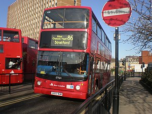 London bus routes 86 Stratford Bus Station.jpg