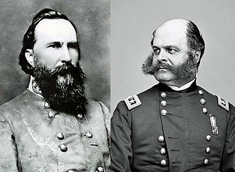 Knoxville Campaign - James Longstreet and Ambrose Burnside, principal commanders of the Knoxville Campaign