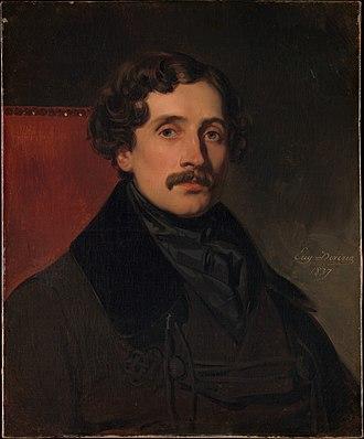 Louis-Félix Amiel - Portrait of Louis-Félix Amiel by Eugène Devéria (1837)