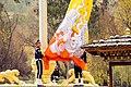 Lowering of a Large Bhutanese Flag.jpg