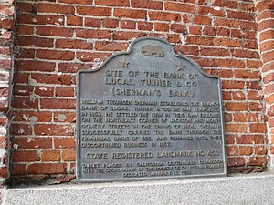 Bank of Lucas, Turner & Co. - California Registered Historic Landmark plaque.