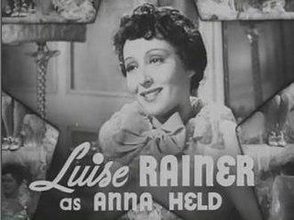 The Great Ziegfeld - Luise Rainer as Anna Held