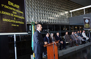 Law enforcement in Brazil - Luiz Fernando Corrêa, current director of the Federal Police