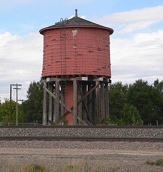 National Register of Historic Places listings in Niobrara County, Wyoming - Image: Lusk redwood water tank (1)