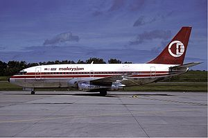 1977 in Malaysia - The Boeing 737-200 of the Malaysian Airline System Flight 653 is hijacked and crashes in Tanjung Kupang, Johor, killing all 100 on board.